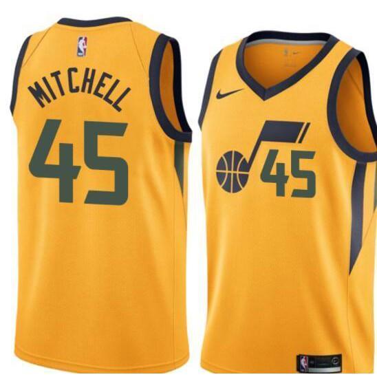 Utah Jazz  45 Donovan Mitchell Swingman City Edition Jersey  046924ab6