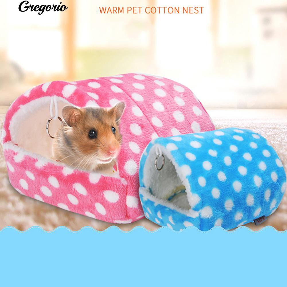 Humorous Soft Coral Velvet Bird Nest Pet Parrot Hanging Sleeping Bed Dual Layer Hammock Chinchilla Hamster Parrot Warming Sleep Bag Bird Cages & Nests Home & Garden