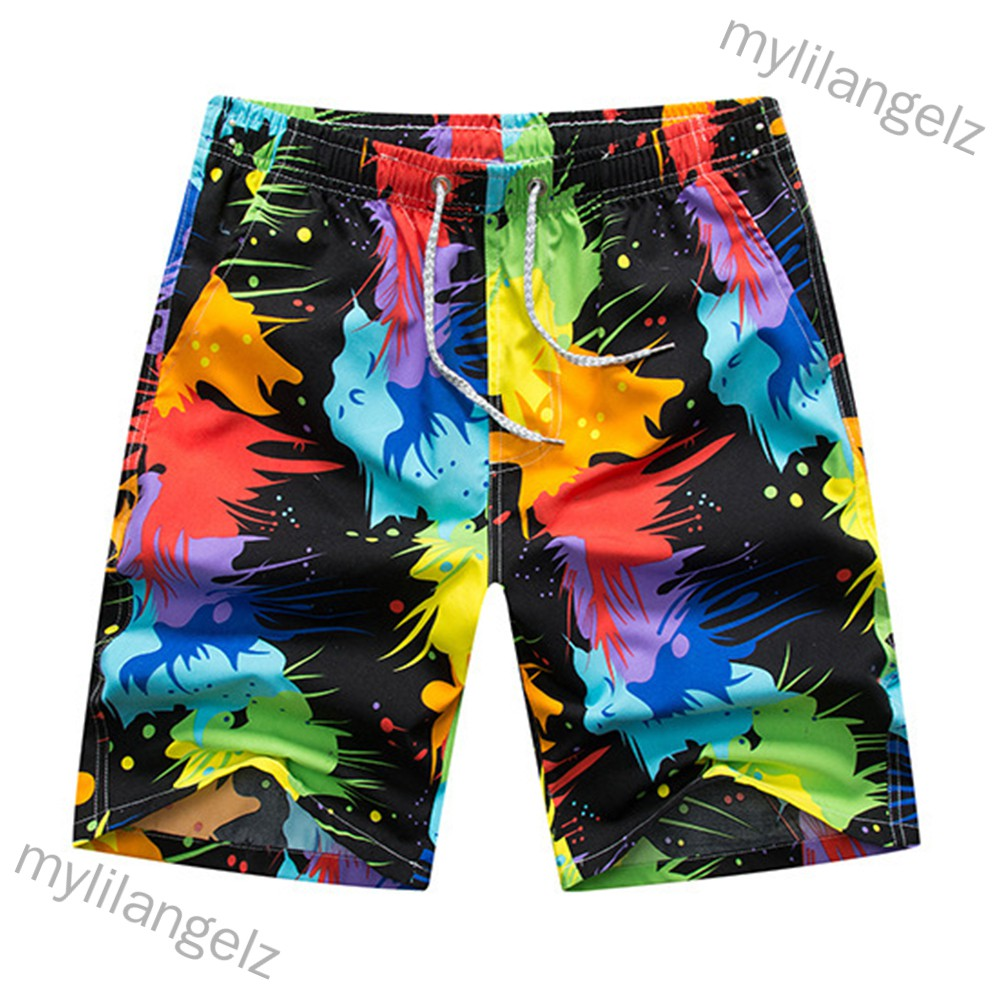 Mylilangelz Men Beach Pants Quick Dry Casual Large Size Loose Shorts