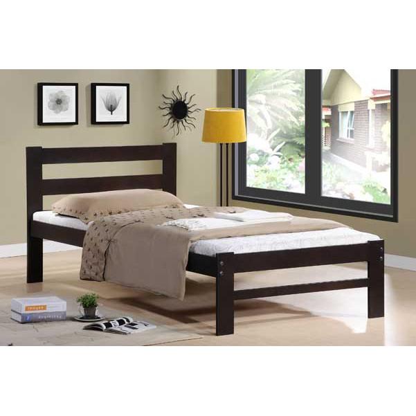 Best EVA Wooden Single 3' Bed (Colour: Cappuccino)
