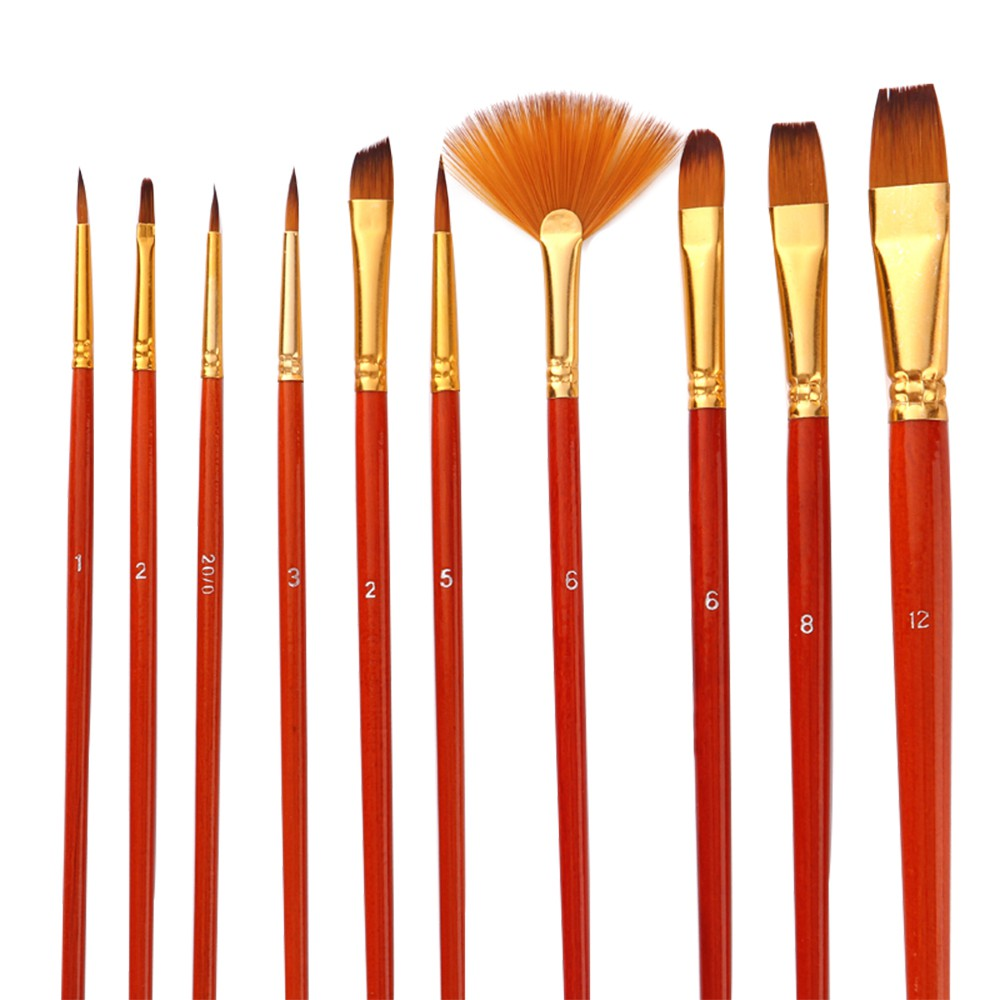 Paint Supplies 16PCS Paint Brush Set with Palette and Paint Knife-12 Paint Brushes+1 Palette+3 Paint Knifes,Artist Acrylic Brush kit for Watercolor Acrylic Oil Painting