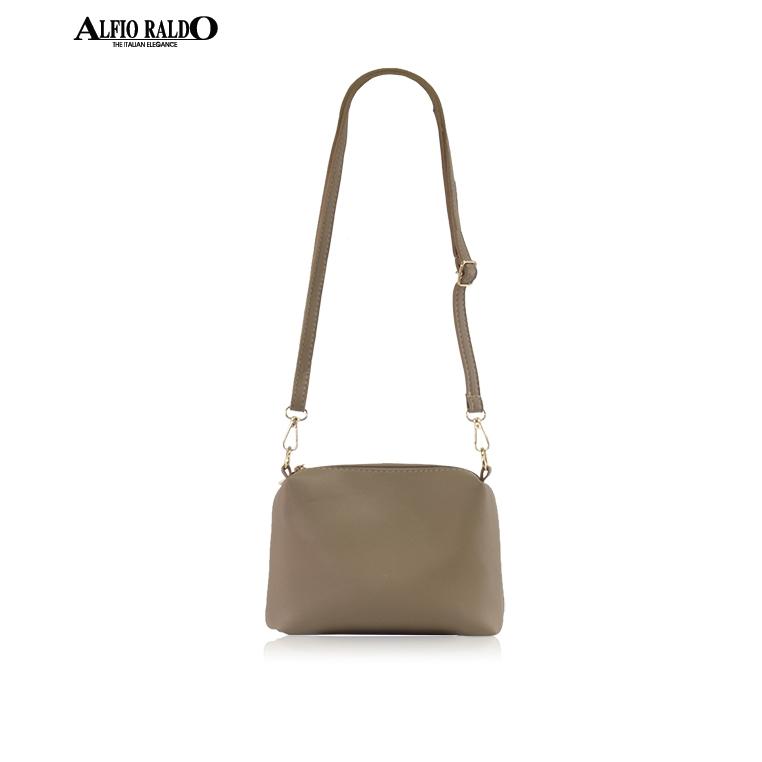 AR by Alfio Raldo Formal Khaki Sling Crossbody Bag with Twist Lock Front Pocket