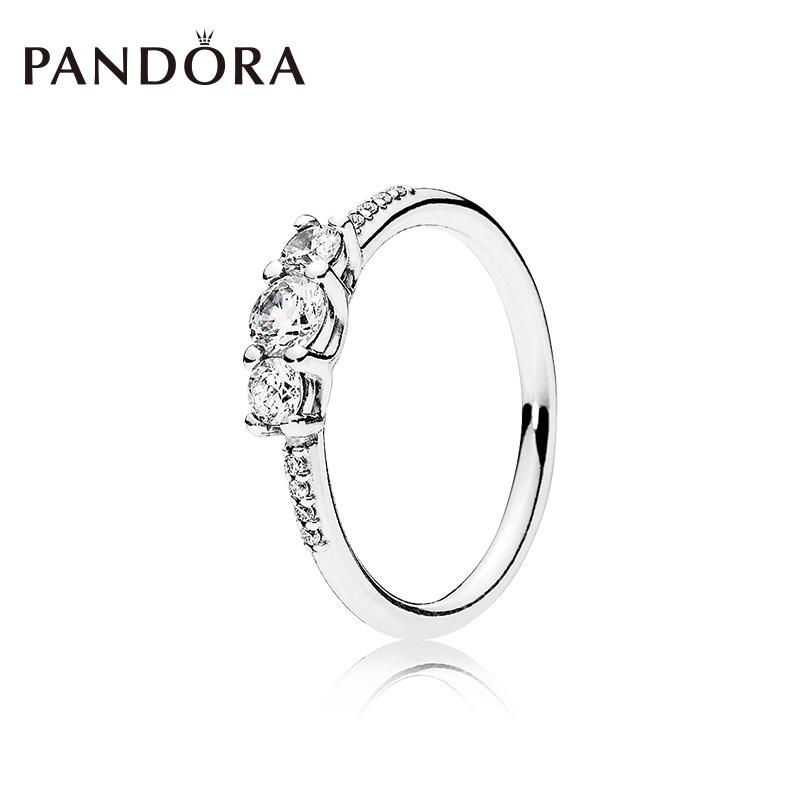 21464382a Original PANDORA Rose Gold 180909 CZ Ring Fashion Personality Ring Woman |  Shopee Malaysia