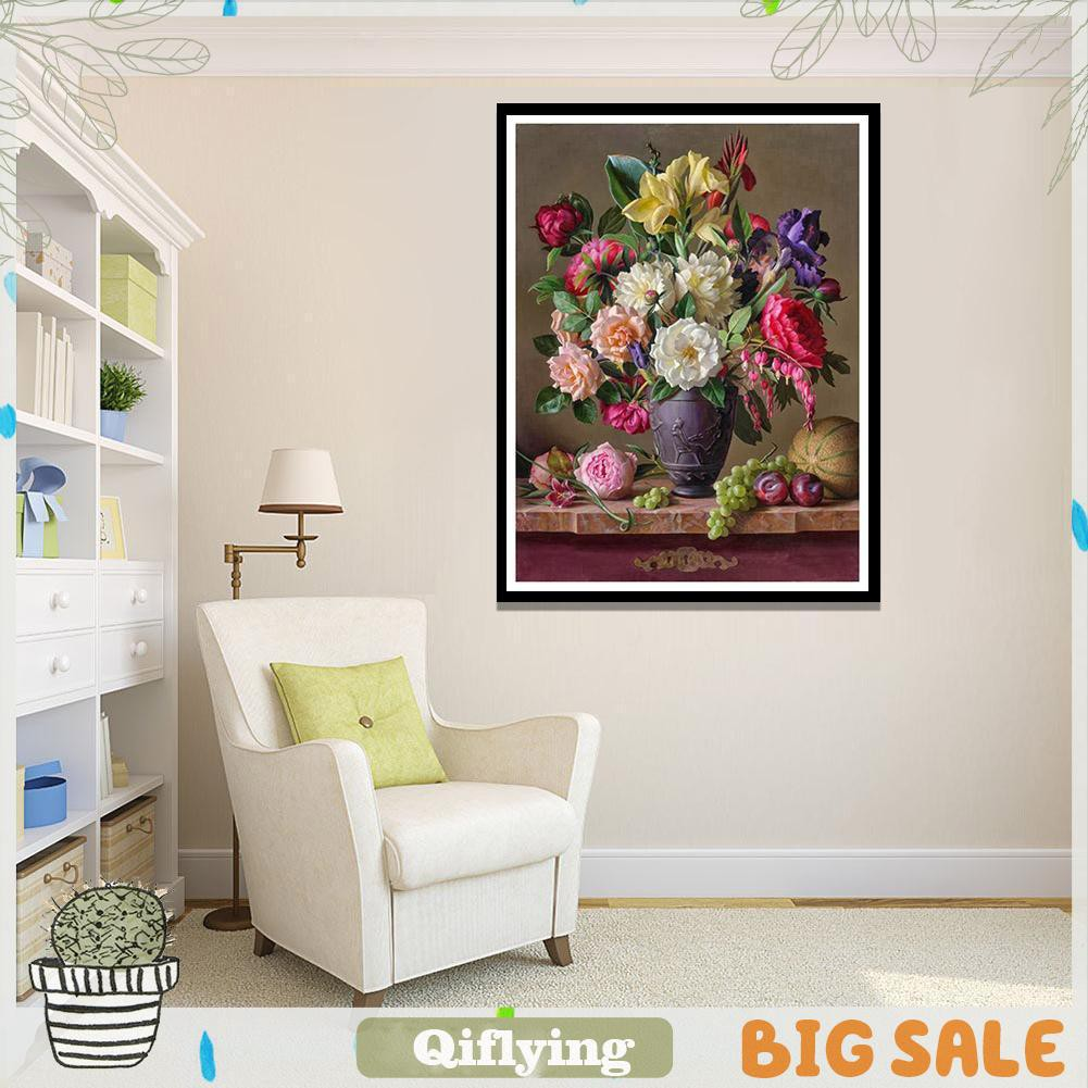 ✿5D DIY Full Drill Diamond Painting Colorful Flowers Cross Stitch Embroidery #S4