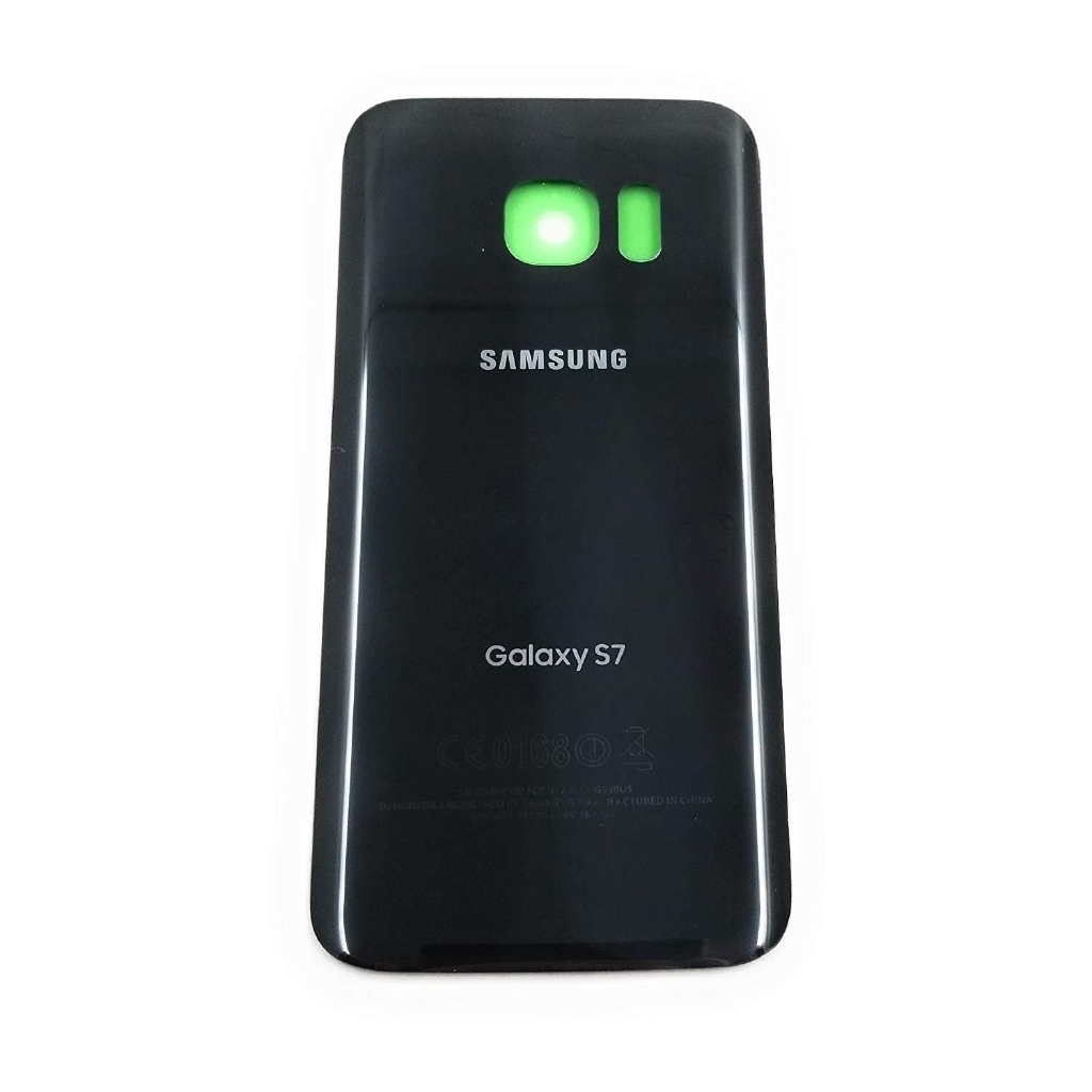 Black OEM Back Glass Cover Battery Door Replacement For Samsung Galaxy S7 G930