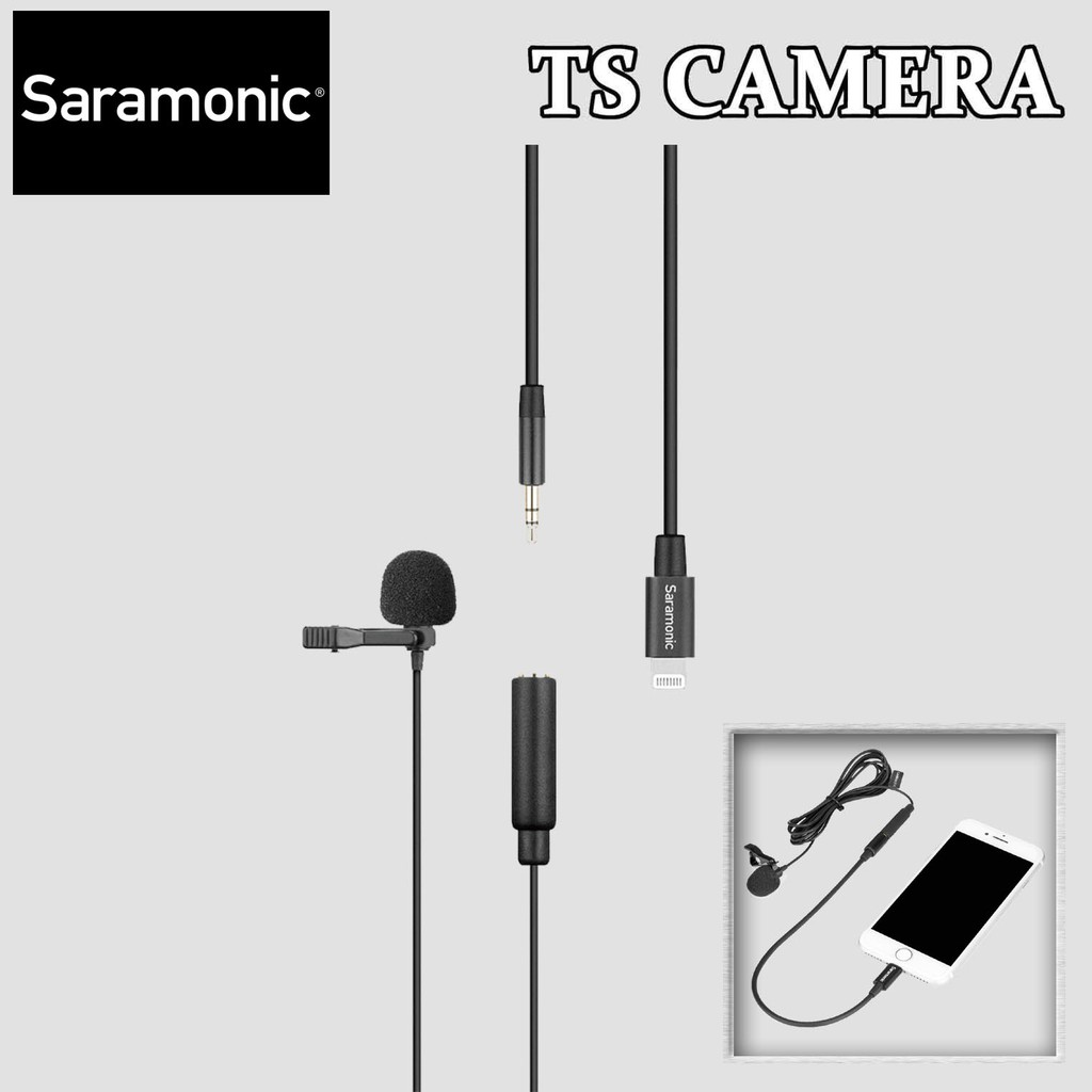 SARAMONIC CLIP-ON LAVALIER MICROPHONE WITH LIGHTNING CONNECTOR FOR IOS DEVICES LACMICRO U1A