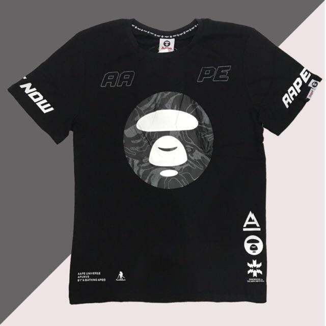 b79b3e5517f Authentic AAPE 3M Reflective Logo T-shirt