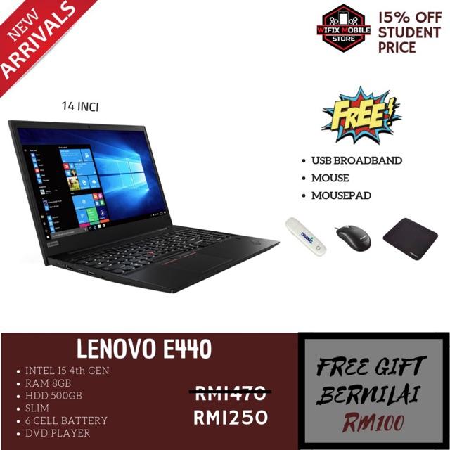 100% Original Laptop Lenovo E440 i5 4th gen/8gb/500gb