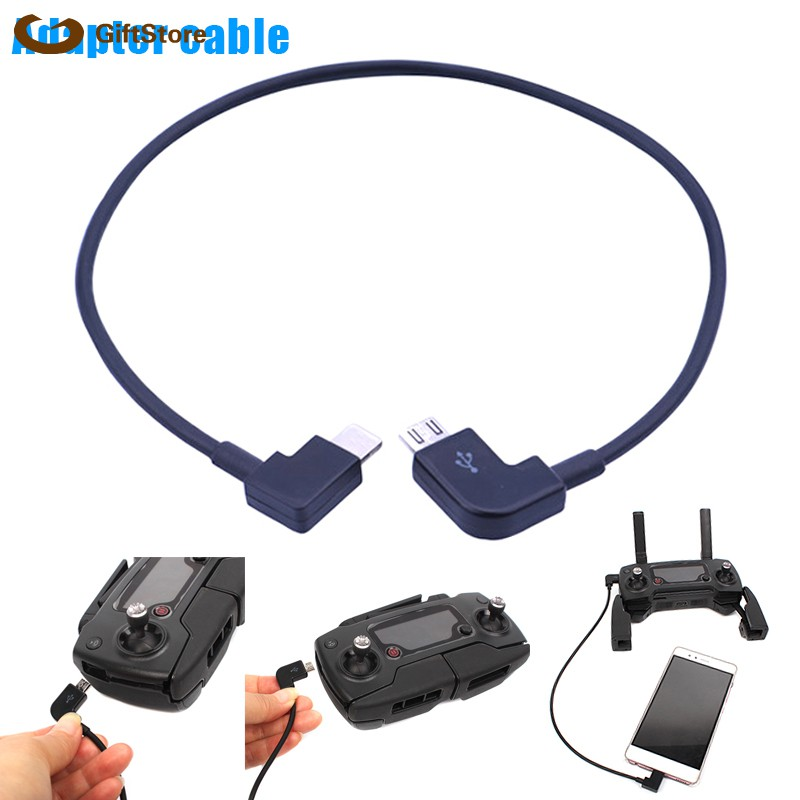 Micro USB OTG to IOS /Andriod/ Type-C Cable Cord for DJI Spark / MavicPro