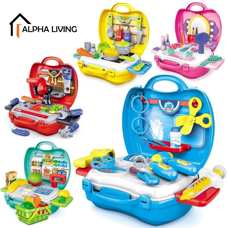 Kids Mini Suitcase Toy Sets Pretend Play Set Role Play TOY0001