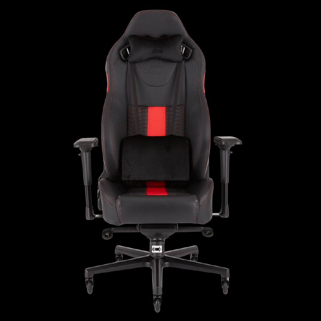 Magnificent Corsair T2 Road Warrior Gaming Chair Black Red Cf 9010008 Ww Camellatalisay Diy Chair Ideas Camellatalisaycom