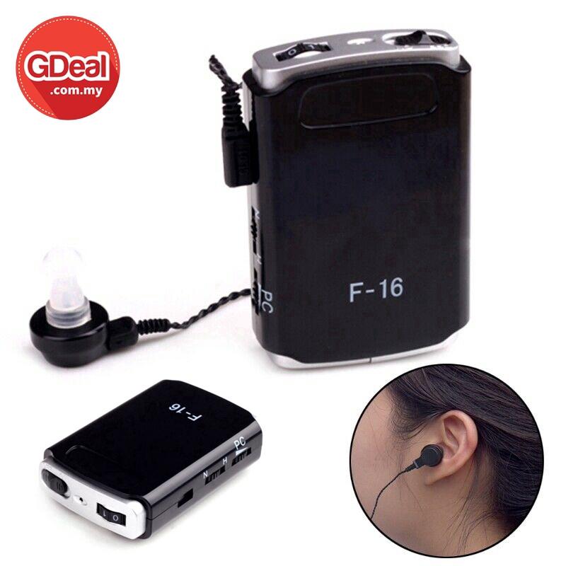 GDeal Portable Pocket Ederly Hearing Aid Mini In Ear Sound Amplifier Volume Adjustable Alatan Pendengaran التن ڤندڠرن