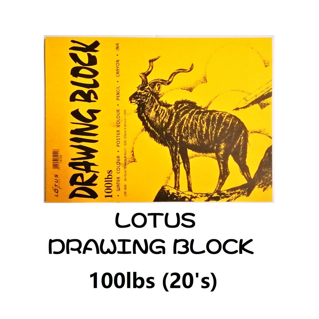 Lotus B4 Drawing Block 100lbs  2828