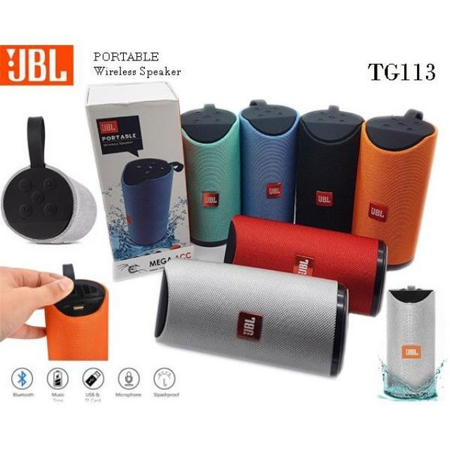 JBL TG-113 High Quality Portable Wireless Bluetooth SUPER BASS Speaker