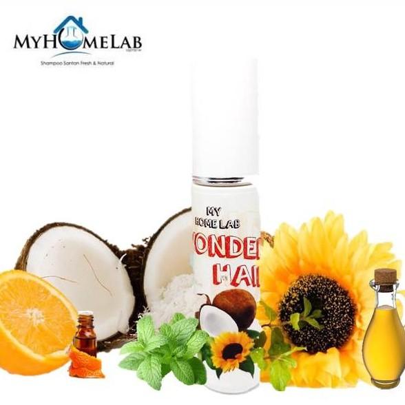 [Ready Stock] WonderHair oil by MyHomeLab / Minyak Rambut Organik Merawat Masalah Kulit Kepala dan Rambut Rosak (60ml)