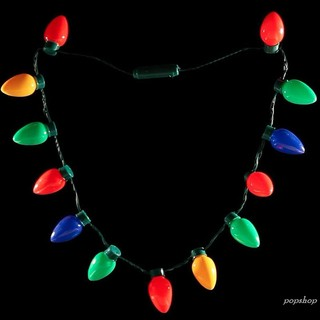 Light Up Christmas Necklace.Shp Led Light Up Christmas Bulb Necklace Party Favors For Adults Or Kids