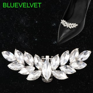 Diy Shoe Decoration Removable Crystal Wings Design Rhinestone Shoes Buckle