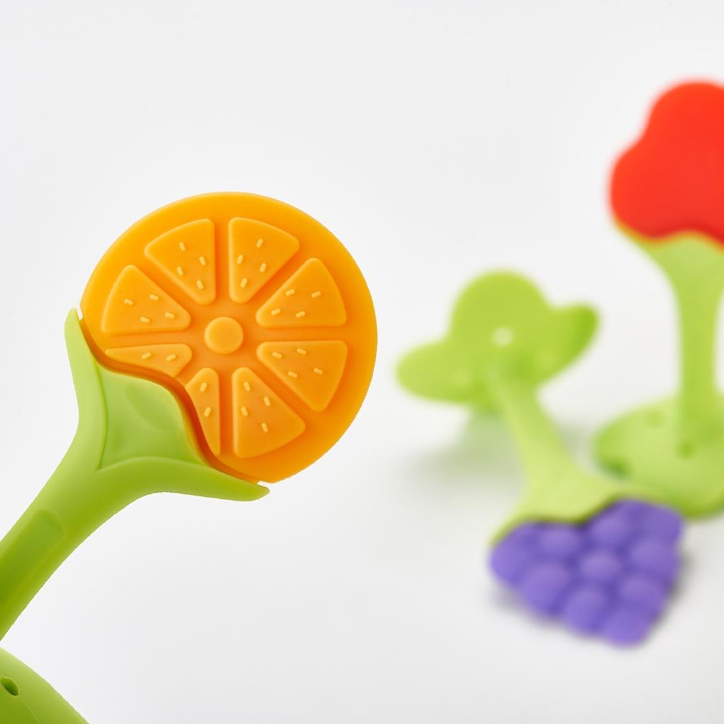 Wisdom Tree Soft Teeth Stick Teether Chew Toy For Baby Kids Silicone Food Feeder