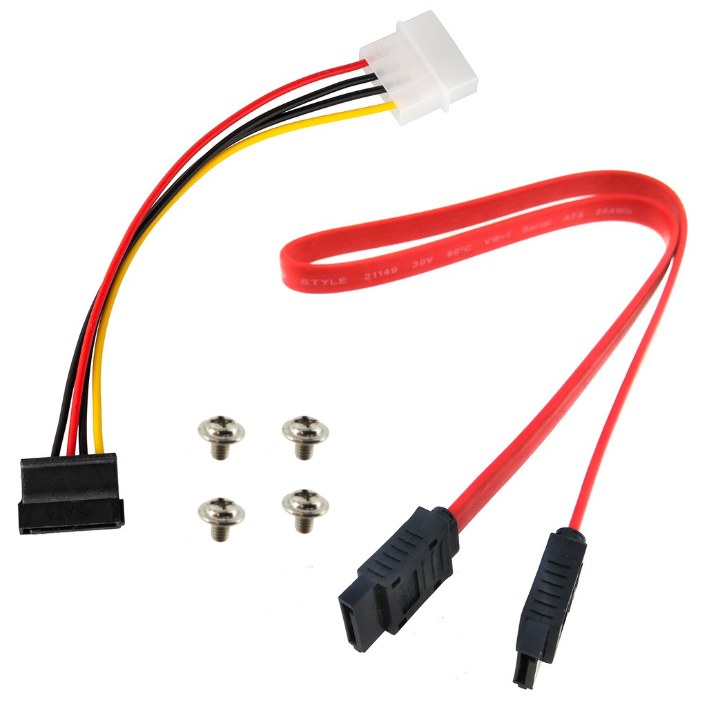 Desktop Computer HDD DVD Drive Cable Screw 7 pin Data Wire SATA to IDE 12v  Power