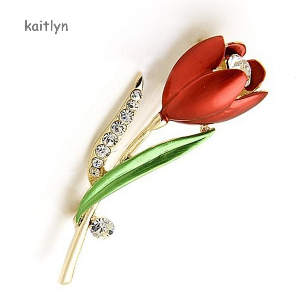 3f663d74e0 Kaitlyn☺Fashion Women Flower Shiny Rhinestone Brooch Pin Jewelry Scarf  Accessory