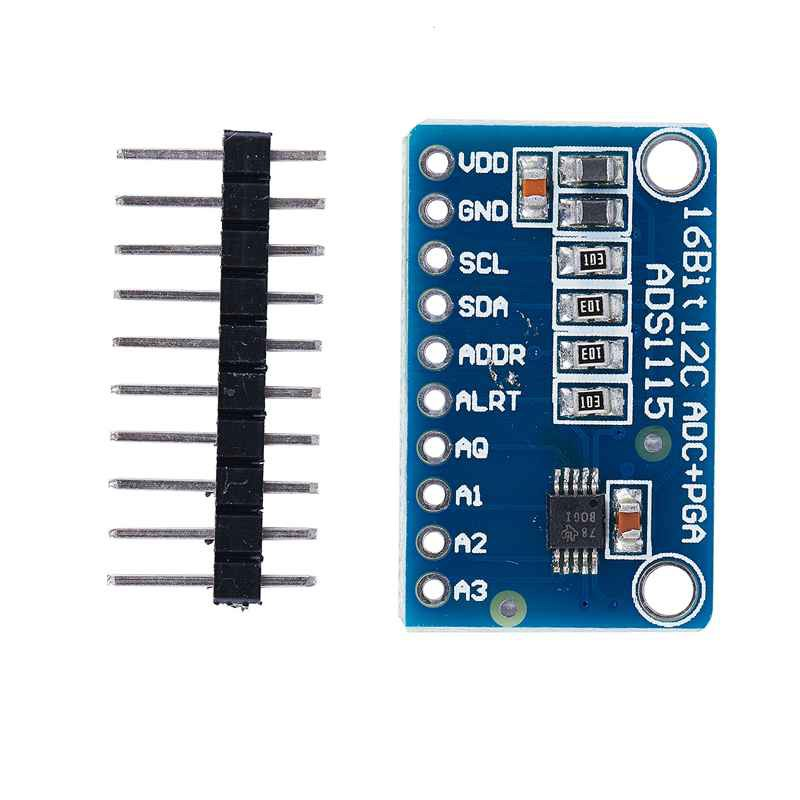 ADS1115 4 Channel 16 Bit I2C ADC Module with Pro Gain Amplifier for