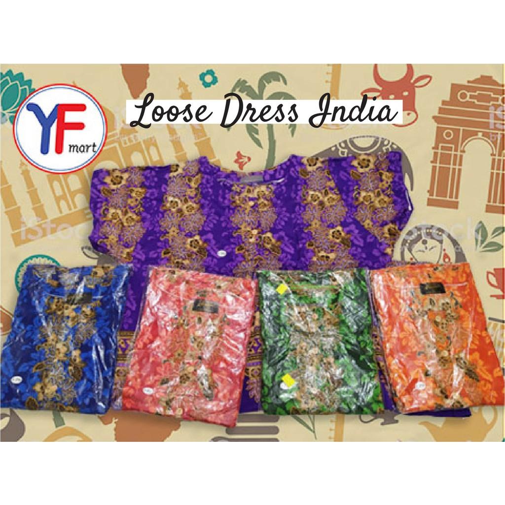 Womens Loose Dress India Style(ReadyStock)