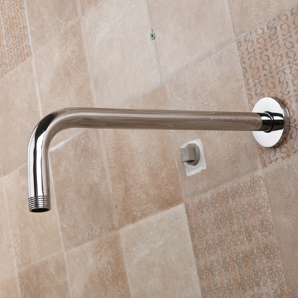 Tapcet Wall Mounted Bathroom Solid Brass Rain Shower Head Extension Arm Pipe