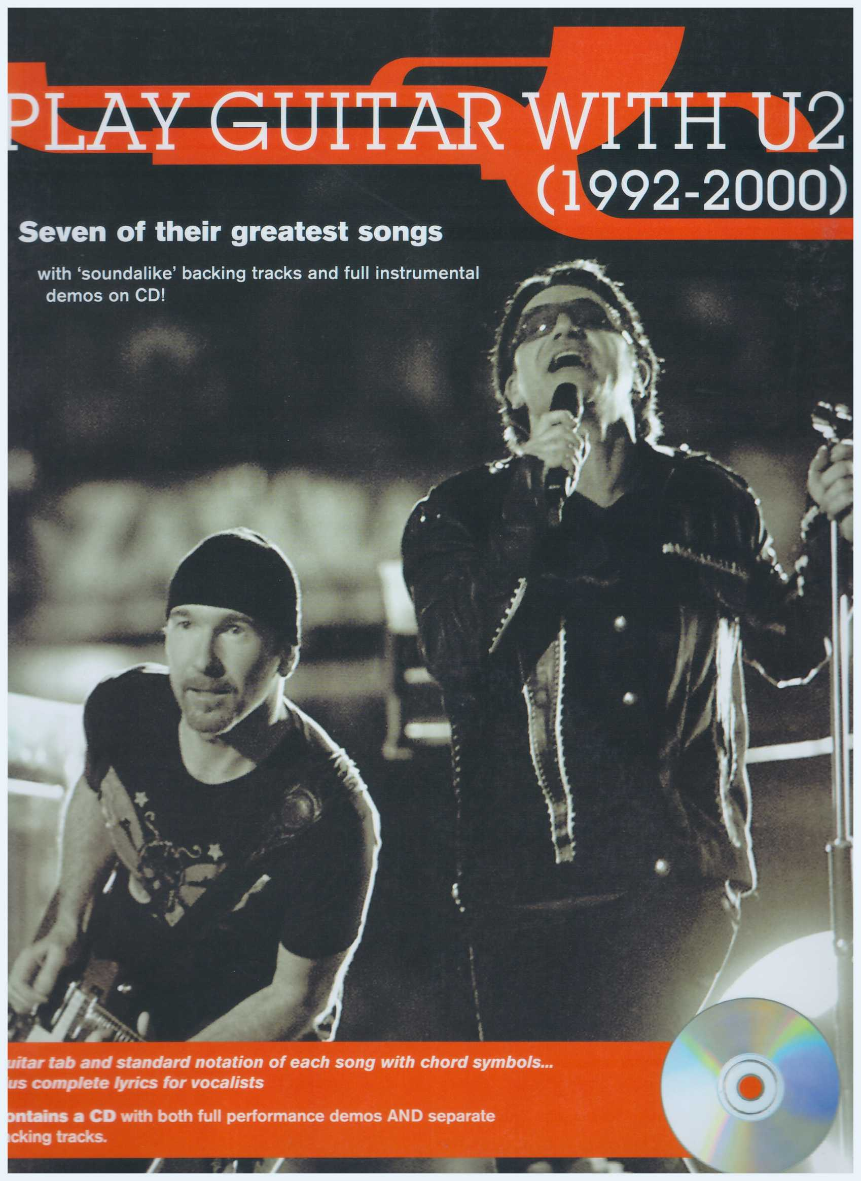 Play Guitar With U2 (1992 - 2000)  / Vocal Book / Voice Book / Guitar Book / Gitar Book / Guitar Tab Book