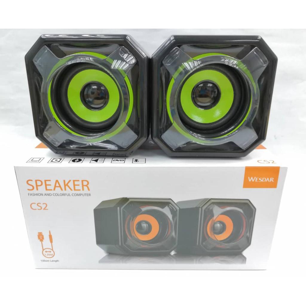 Wesdar CS2 USB 2.0 Multimedia Speaker (loud)