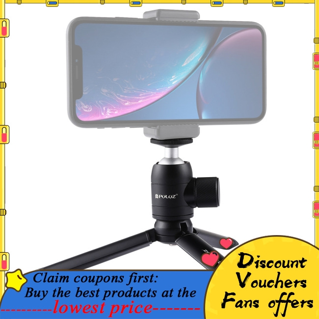 Protective Case for Sports Camera Mini Pocket Metal Desktop Tripod Mount Mini Metal Ball Head with 1//4 inch Screw for DSLR /& Digital Cameras
