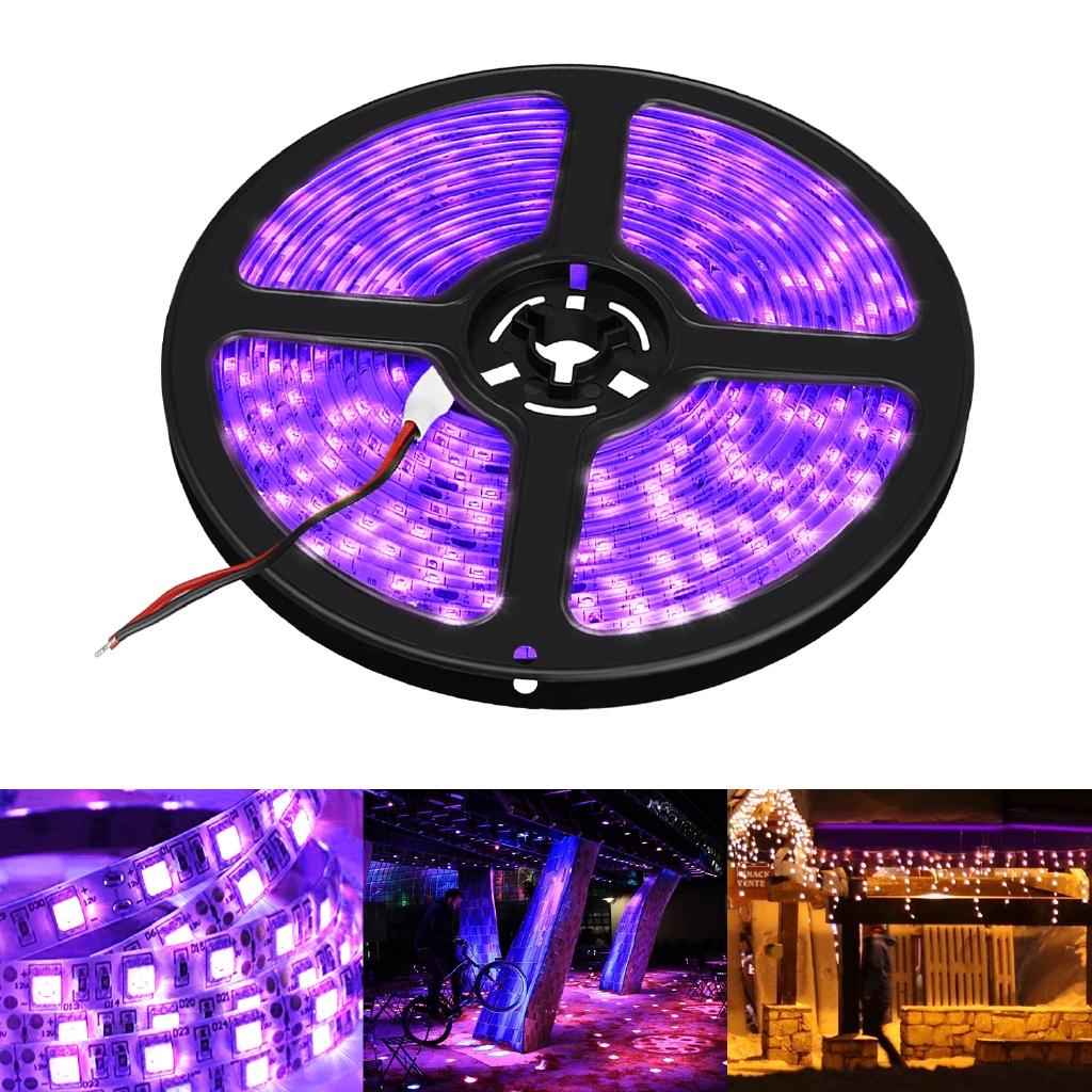 5M UV Ultraviolet 3528 SMD Led Strip 300//600LED Light Flex Strip Lights 12V IP65