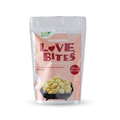 Love Earth Love Bites Roasted Cashew & Macadamia 浅烤系列 腰果和夏威夷果 40公