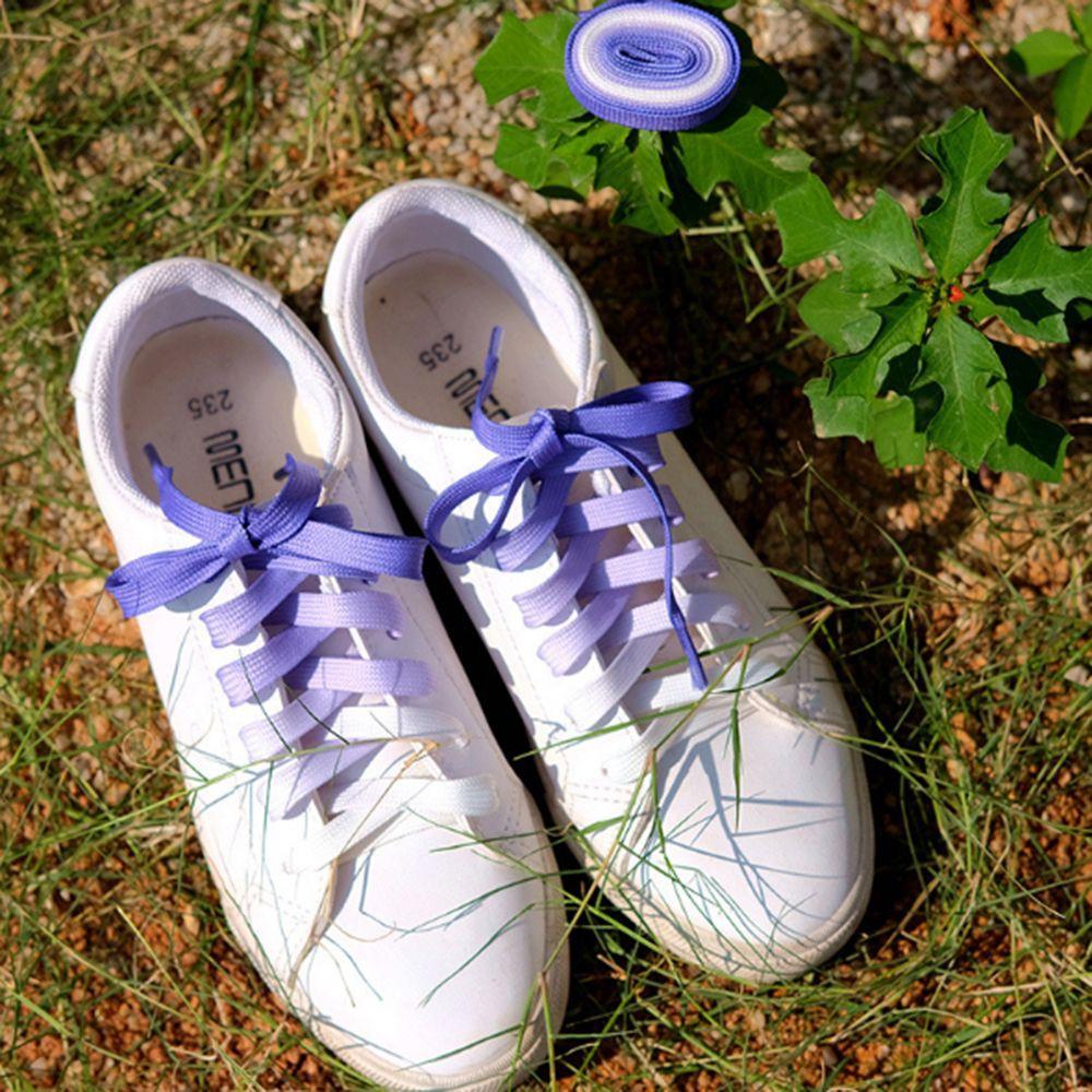 e3c8d3f7d6 1PAIR Canvas Athletic Strings Sports Candy Color Shoe Laces Gradient  Shoelaces