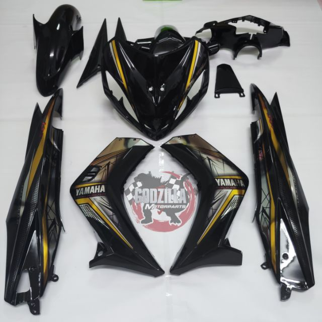 Coverset Yamaha LC135 V1 Chrome Sticker