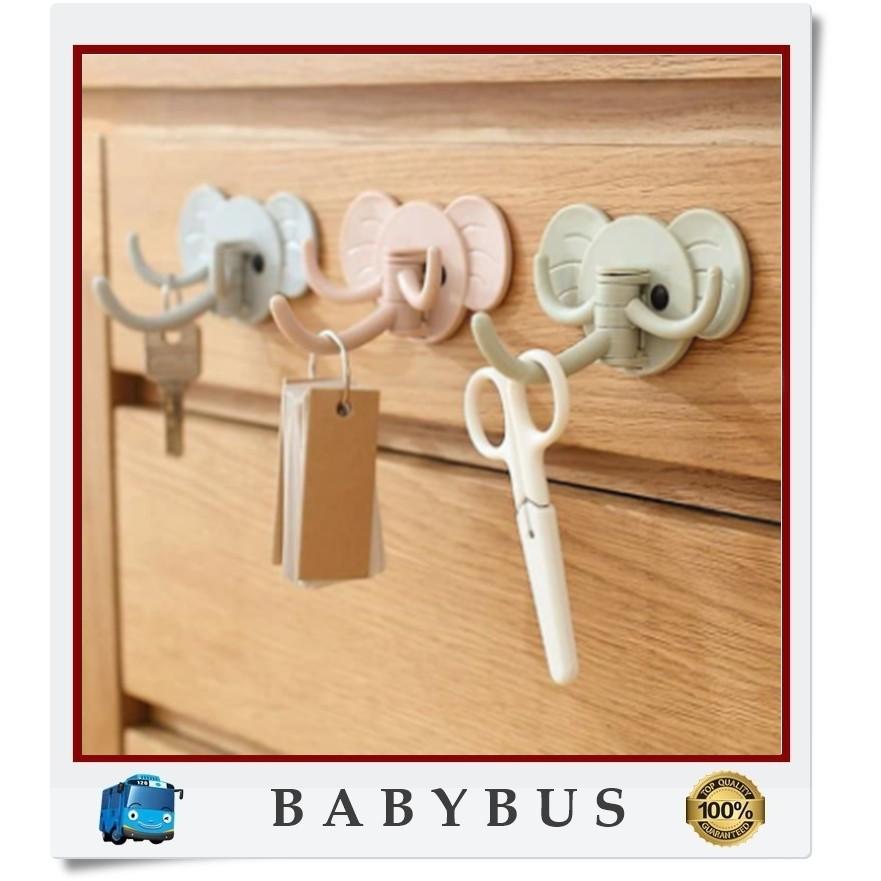 Bbs Motif Funny Elephant 3in1 Multipurpose Motives Cheap Wall Hangers Universal Hangers Shopee Malaysia