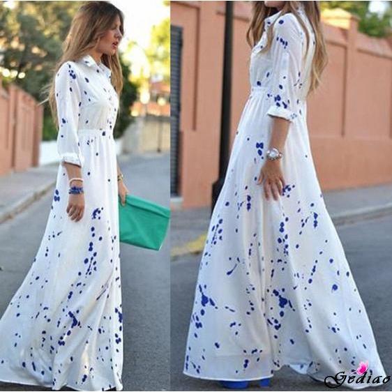db82a74ec861e Ged♥-Newest Women Sexy Summer Boho Evening Party Long Maxi Beach Dress