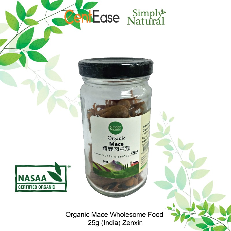 Simply Natural NASAA Organic Mace Wholesome Food 25g (India) Zenxin