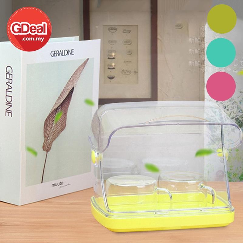 GDeal Multipurpose Kitchen Fruit Cup Plastic Storage Box Food Bread Jam Dustproof Transparent Basket