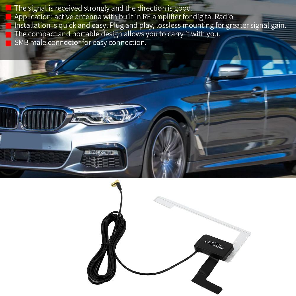DAB+ Digital Car Radio Active Antenna Aerial SMB | Shopee