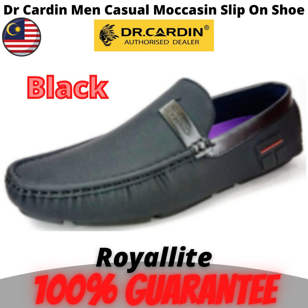 DR.CARDIN MEN FAUX LEATHER MICRO SUEDE CASUAL SLIP-ON SHOE (TRC-60015) Black & Brown