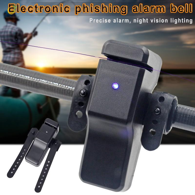 10PCS Electronic LED Fish Bite Fishing Sound Alarm Alert Sensitive Clip On Rod