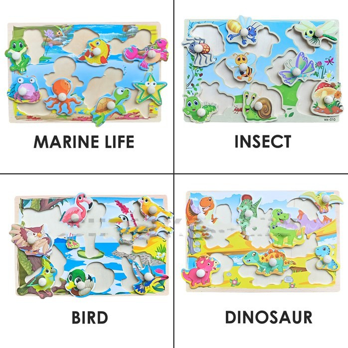 MALAYSIA O: Wooden Jigsaw Puzzle Kids Early Learning WOODEN JIGSAW PUZZLE 2/ ALAT PERMAINAN JIGSAW PUZEL