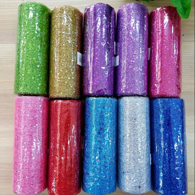 Ribbon Net Shinny Assorted Colour 14cm x 4.5meter
