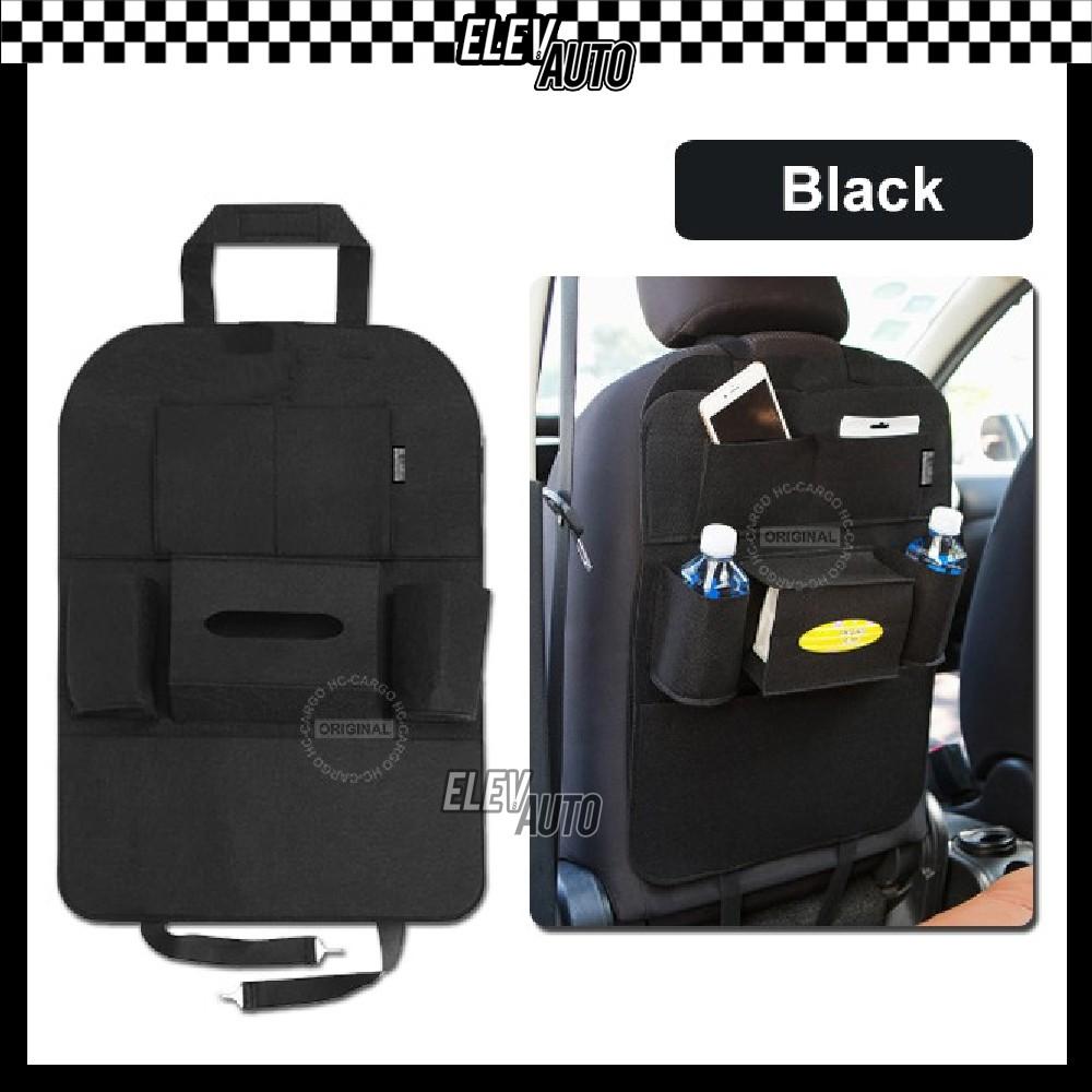 Car Back Seat Backseat Organizer Storage Bag Food Cup Hanger Tissue Box Holder Universal
