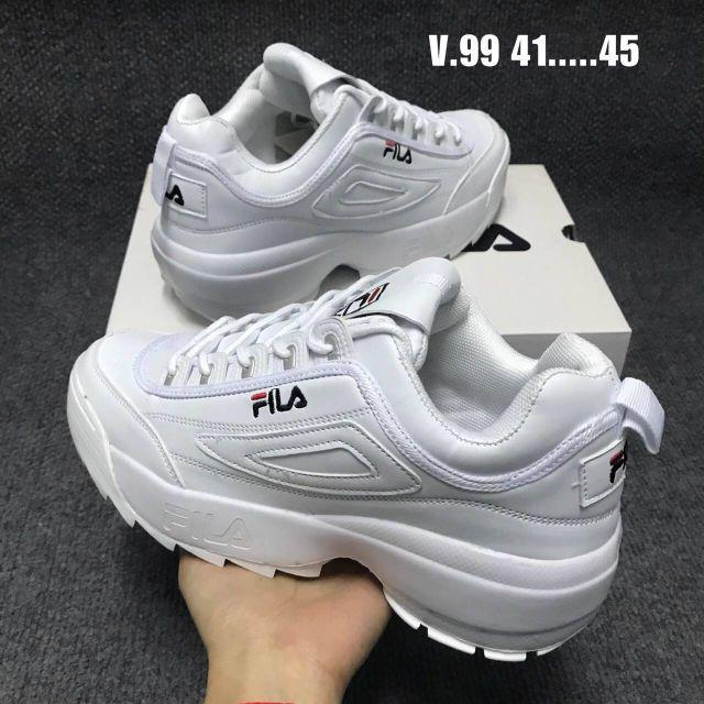 รองเท้า FILA สีขาวมีไซส์ใหญ่ 41-45 ใช้โค้ดลดอีก 10