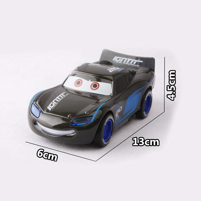 Disney Pixar CARS 3 Jackson Igntr Alloy Pull Back Diecast Car with Sound /& Light