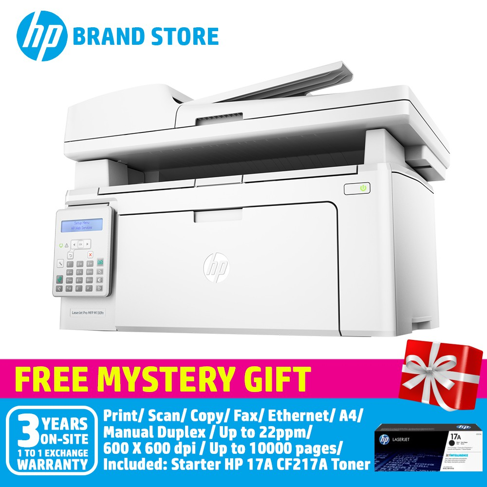 HP LaserJet Pro MFP M130fn Printer G3Q59A+Free Mystery Gift