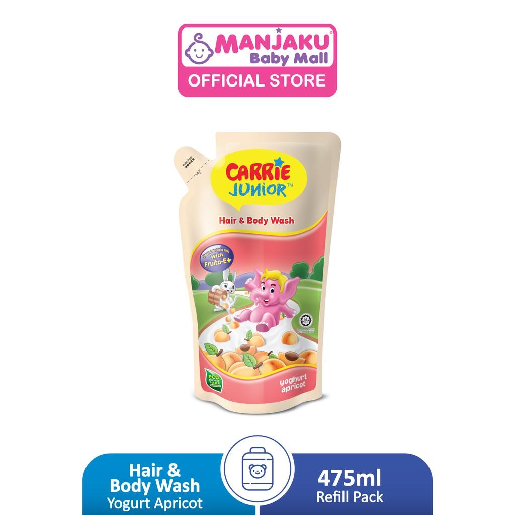 Carrie Junior Baby Hair & Body Wash Refill Pack Pouch (475g) - Yoghurt Apricot/Yoghurt Melon