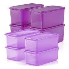 *Ready Stock**1pc/2pcs*Tupperware Cool Stacker 2.2L/3.1L Purple MCO Keep Vegetacbles fresh