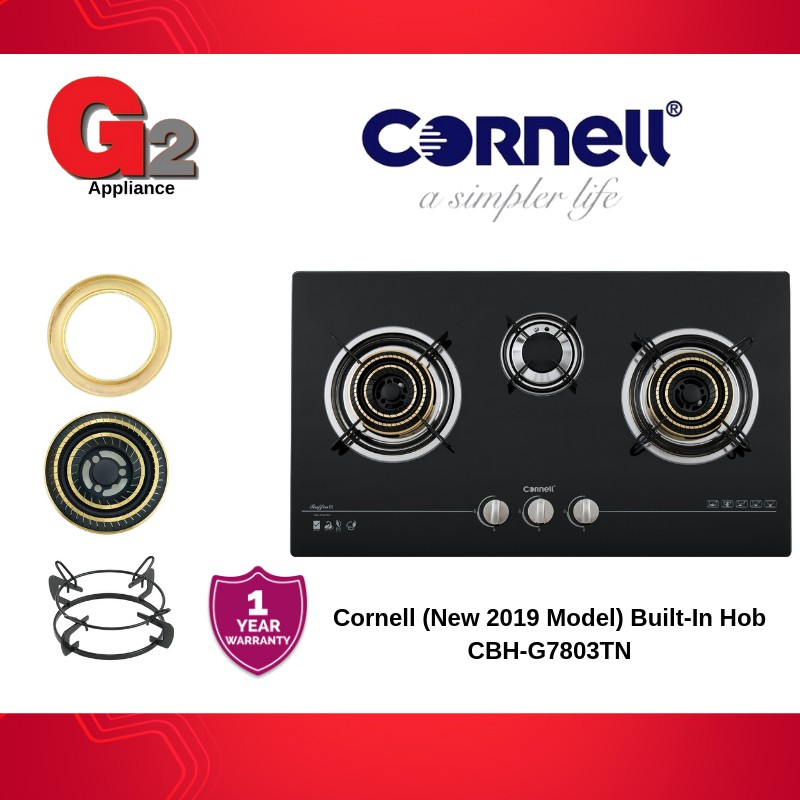 Cornell (Ready Stock+Fast Delivery) 3Burner Built-In Hob CBH-G7803TNC